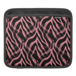 Snazzy Strawberry Pink Zebra Stripes Print Sleeve For iPads