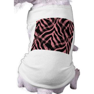 Snazzy Strawberry Pink Zebra Stripes Print T-Shirt