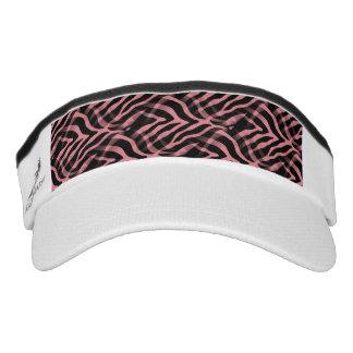 Snazzy Strawberry Pink Zebra Stripes Print Visor