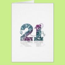Snazzy Twenty First Card