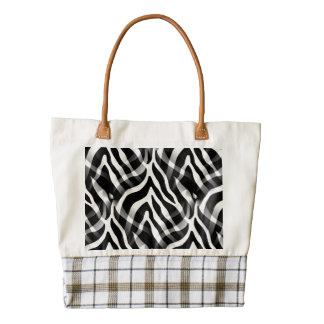 Snazzy Zebra Stripes Print Zazzle HEART Tote Bag