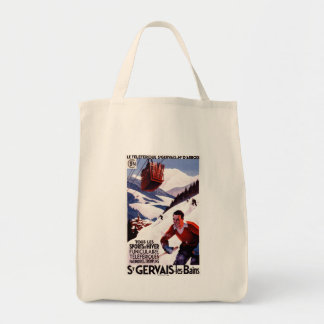 SNCF Railway Cable Car Promo Poster Tote Bag