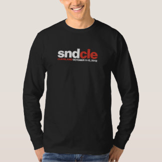 SNDCle long-sleeve, designer black T-Shirt