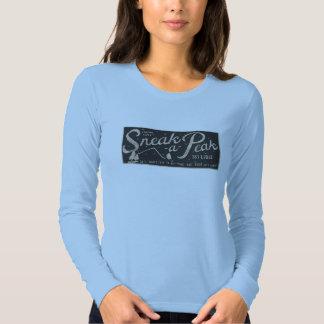 Sneak-a-Peak ski lodge T Shirt