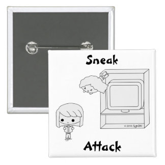 Sneak Attack (Black & White) Pins
