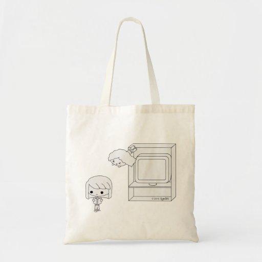 Sneak Attack (Black & White) Tote Bag