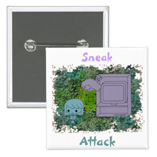 Sneak Attack (Blue and Gray Girl, Green Puzzle) Buttons