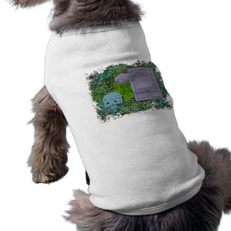 Sneak Attack (Blue and Gray Girl, Green Puzzle) Doggie Shirt