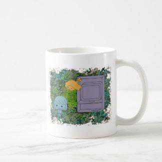Sneak Attack (Blue and Orange Girl, Green Puzzle) Coffee Mug