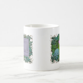 Sneak Attack (Blue and Pink Girl, Green Puzzle) Coffee Mug