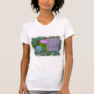 Sneak Attack (Blue and Pink Girl, Green Puzzle) T-Shirt