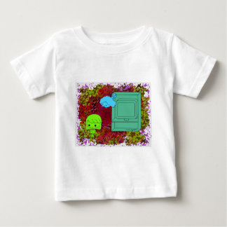 Sneak Attack (Green and Blue Girl, Red Puzzle) Baby T-Shirt