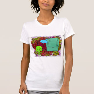 Sneak Attack (Green and Blue Girl, Red Puzzle) T-Shirt