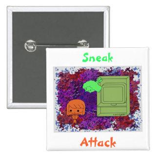 Sneak Attack (Orange and Green Girl Purple Puzzle) Button