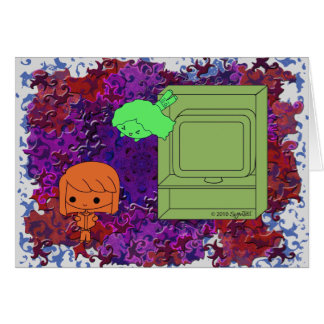 Sneak Attack (Orange and Green Girl Purple Puzzle) Card