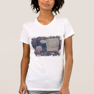 Sneak Attack (Purple and Light Girl, Blue Puzzle) T-Shirt