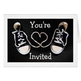 Sneaker Love Invitation Note Card (Or?