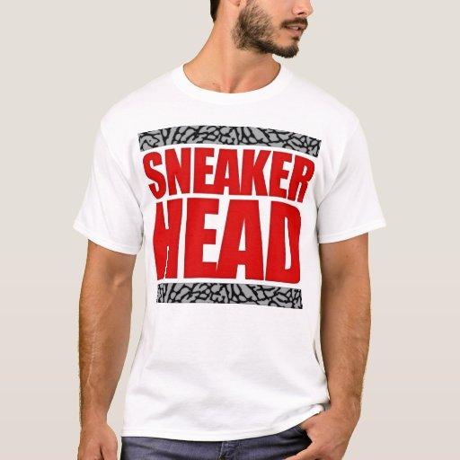 Sneakerhead fire red cement t shirt zazzle for Kicks on fire t shirt