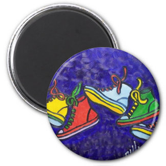 Sneakers 2 Inch Round Magnet