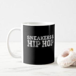 Sneakers and Hip Hop Print Coffee Mug