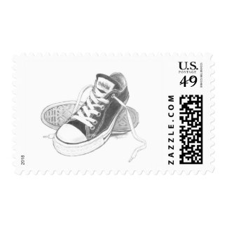 Sneakers Art Postage Stamps