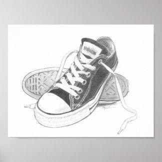 Sneakers Art Print Poster