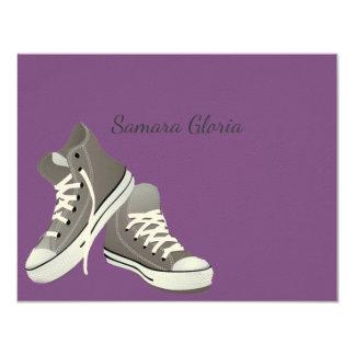 Sneakers Bat Mitzvah Thank You Card