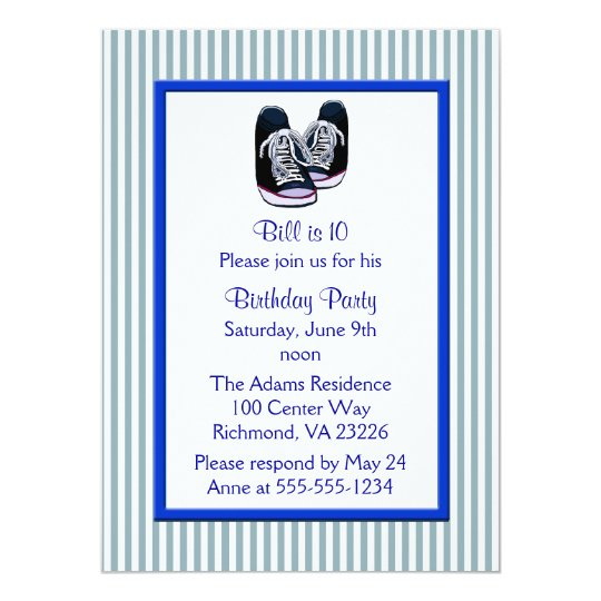 Sneakers Birthday Party Card