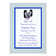 Sneakers Birthday Party Custom Announcements