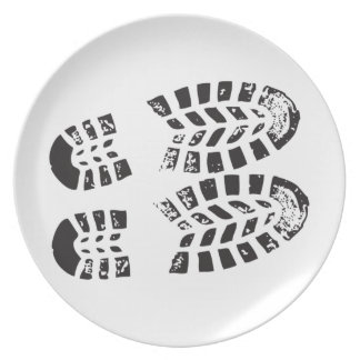 Sneakers Black & White Imprint Plate