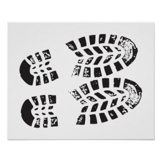 Sneakers Black & White Imprint Poster