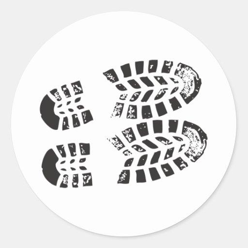 Sneakers Black & White Imprint Stickers
