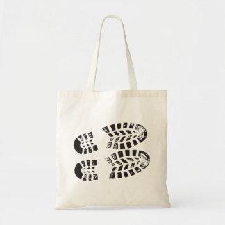 Sneakers Black & White Imprint Tote Bag