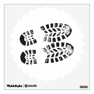 Sneakers Black & White Imprint Wall Sticker