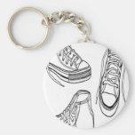 Sneakers design keychain