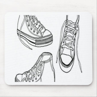 Sneakers design mouse pad