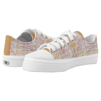 Sneakers enmesh linear multicoloured