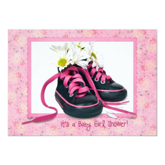 Sneakers for Baby Girl Shower Card