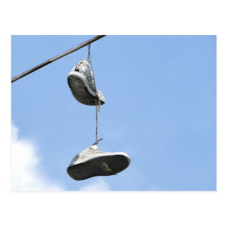 SNEAKERS ON A POWER LINE POSTCARD
