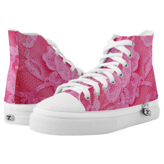 pink canvas shoes printed shoes zazzle