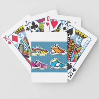 Sneakers pop art vector bicycle playing cards