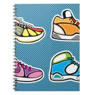 Sneakers pop art vector notebook