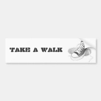 SNEAKERS TAKE A WALK BUMPSERSTICKER CAR BUMPER STICKER
