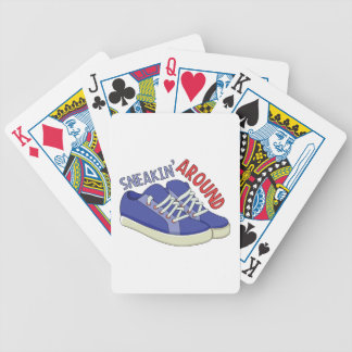 Sneakin Around Bicycle Playing Cards