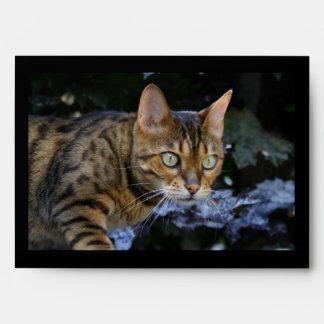 Sneaking Bengal Cat Envelope