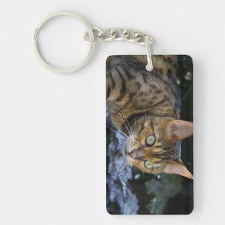 Sneaking Bengal Cat Keychain
