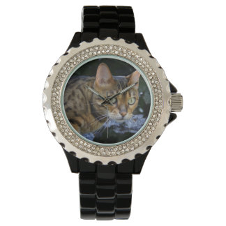 Sneaking Bengal Cat Wristwatches