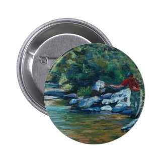Sneaking Up on a Rainbow Pinback Button