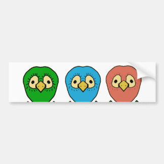 sneaky birds bumper sticker