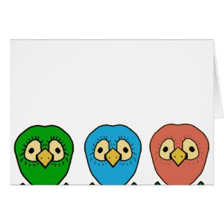 sneaky birds greeting card